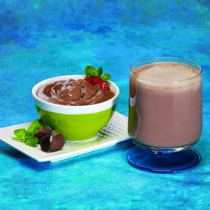 Chocolate Mint Pudding and Shake
