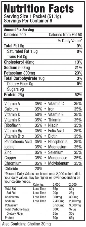 Optfast HP Vanilla Nutrition