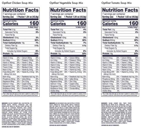 Optifast Soup Nutrition