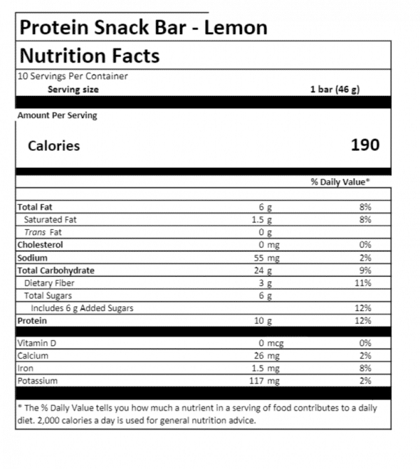 Arbonne Lemon Bar