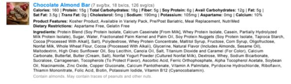 Chocolate Almond Protein Bar