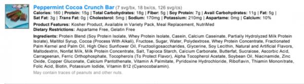 Peppermint Cocoa Crunch Bar